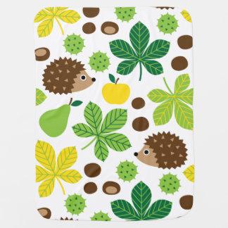 Cobertor Para Bebe Teste padrão sem emenda das castanhas & do ouriço