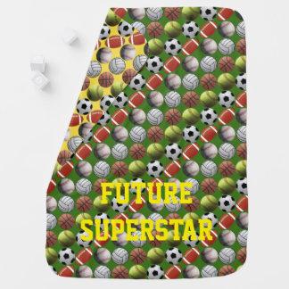 Cobertor Para Bebe Toda a estrela mundial do futuro do esporte
