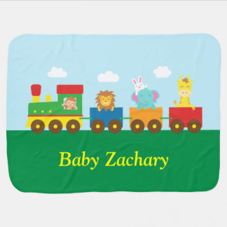Cobertor Para Bebe Trem bonito colorido dos animais para bebês
