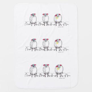 Cobertor Para Bebe Três carneiros Cornish das mamães que alimentam