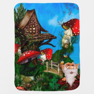 Cobertor Para Bebe Um gnomo para minha arte da fantasia do jardim
