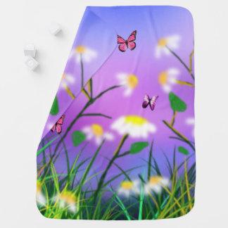Cobertor Para Bebe Um toque do primavera, do lado cobertura dobro do