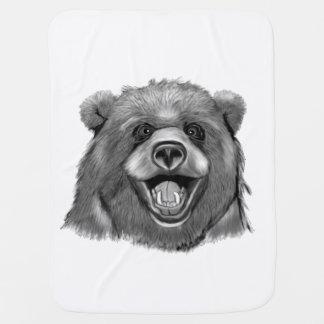Cobertor Para Bebe Urso feliz
