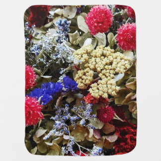 Cobertor Para Bebe Variedade de flores secadas
