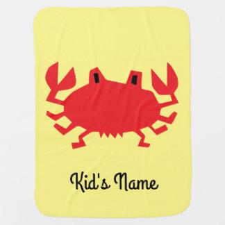 Cobertor Para Bebe Vermelho do caranguejo do mar