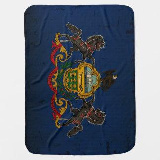 Cobertor Para Bebe VINTAGE da bandeira do estado de Pensilvânia