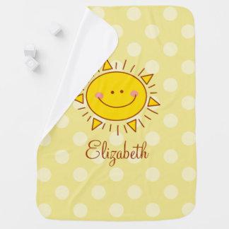 Cobertor Para Bebe Você é meu bebê ensolarado do smiley bonito feliz