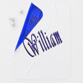 Cobertor Para Bebe William, nome, logotipo, cobertura reversível do