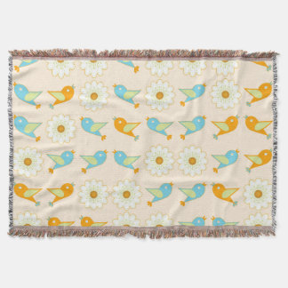Cobertor Pássaros e margaridas