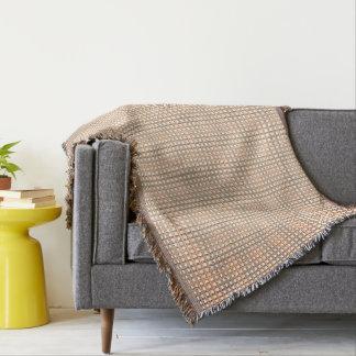 Cobertor Pêssego-Cinza-Casa de