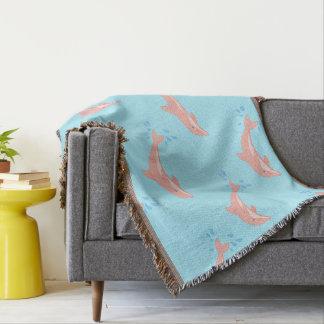 Cobertor Pêssegos o golfinho cor-de-rosa
