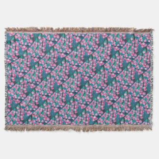 Cobertor Pintura japonesa da flor de cerejeira