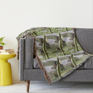 Cobertor Pombas do amor em uma cobertura feita sob