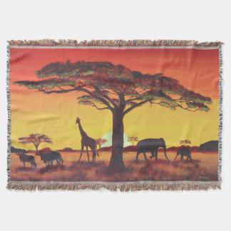 Cobertor Pôr do sol em áfrica