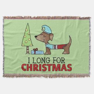 Cobertor Por muito tempo para o Natal-Dachshund