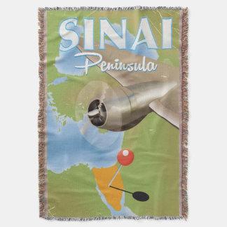 Cobertor Poster de viagens do vôo da peninsula do Sinai