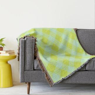 Cobertor Preppie*-Pool-House-Argyle-Lime-Blue-Blanket