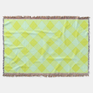 Cobertor Preppie*-Pool-House-Argyle-Lime-Blue-Blanket
