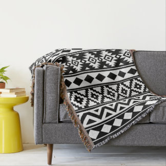 Cobertor Preto & branco verticais de Ptn IIIb da essência