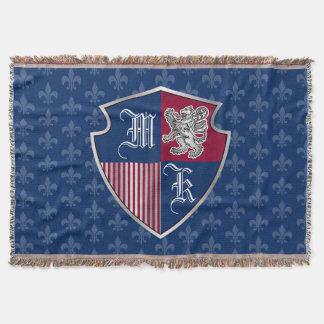 Cobertor Protetor de prata do emblema do monograma da