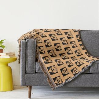 Cobertor Quadrado de Emoji Poo