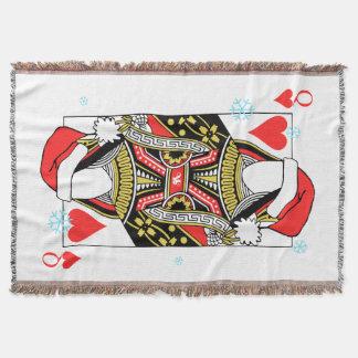 Cobertor Rainha do Feliz Natal dos corações - adicione suas
