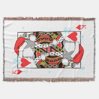Cobertor Rei do Feliz Natal dos corações - adicione suas