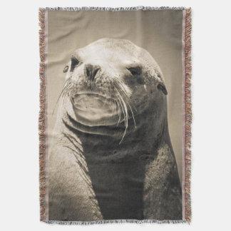 Cobertor Retrato do leão de mar