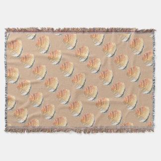 Cobertor Seashell do berbigão, alaranjado e amarelo da