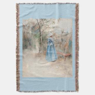Cobertor Senhora Azul Pingamento Jogo do outono de Carl