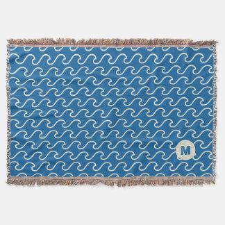 Cobertor Série do monograma: Tema náutico