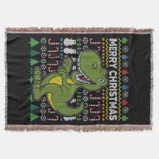 Cobertor Série feia verde dos animais selvagens da camisola