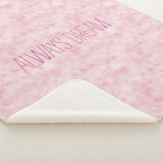 Cobertor Sherpa Bonito cora a aguarela cor-de-rosa