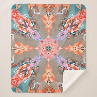 Cobertor Sherpa Caleidoscópio abstrato estrutural