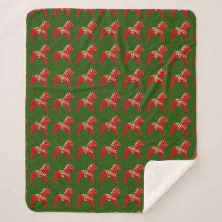 Cobertor Sherpa Cavalos de Dala do Natal
