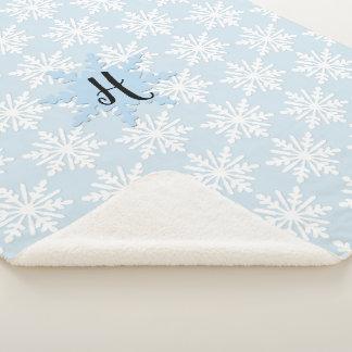 Cobertor Sherpa Cobertura acolhedor de Sherpa do floco de neve do