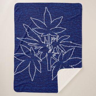 Cobertor Sherpa Cobertura de Sherpa do Azul-Desenho de Bubs da