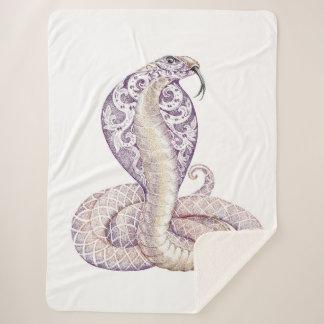 Cobertor Sherpa Cobertura de Sherpa do tatuagem do cobra da cobra