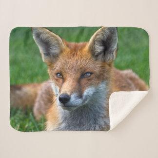 Cobertor Sherpa Cobertura do Fox vermelho Sherpa