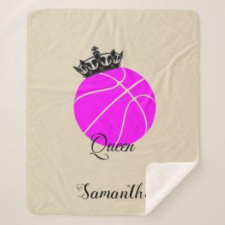 Cobertor Sherpa Cobertura do sherpa da rainha do basquetebol