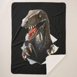 Cobertor Sherpa Cobertura do velo de Sherpa do dinossauro do