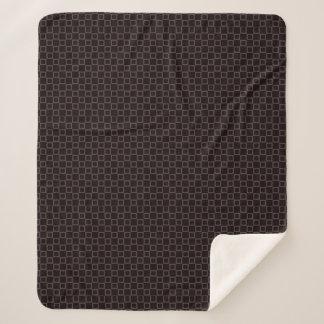 Cobertor Sherpa Cobertura marrom clássica à moda de Sherpa