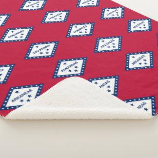 Cobertor Sherpa Cobertura patriótica de Sherpa com a bandeira de