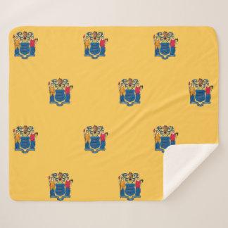 Cobertor Sherpa Cobertura patriótica de Sherpa com a bandeira nova