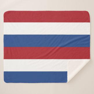 Cobertor Sherpa Cobertura patriótica de Sherpa com bandeira