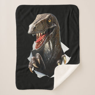 Cobertor Sherpa Cobertura pequena do velo de Sherpa do dinossauro