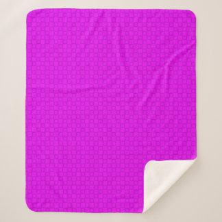 Cobertor Sherpa Cobertura roxa clássica à moda de Sherpa