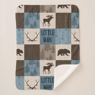 Cobertor Sherpa Cobertura rústica de Minky Sherpa do homem pequeno