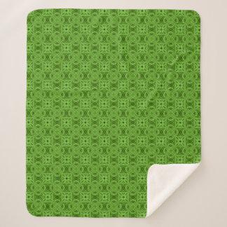 Cobertor Sherpa Coberturas verdes indo de Sherpa do caleidoscópio