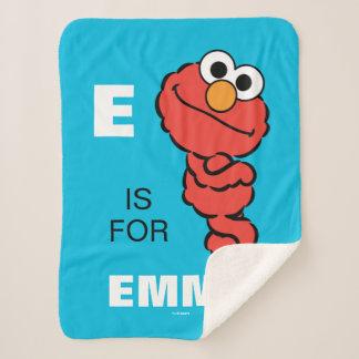 Cobertor Sherpa E é para Elmo que   adicionam seu nome